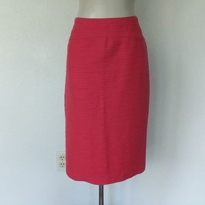Anthropologie Pink textured pencil skirt